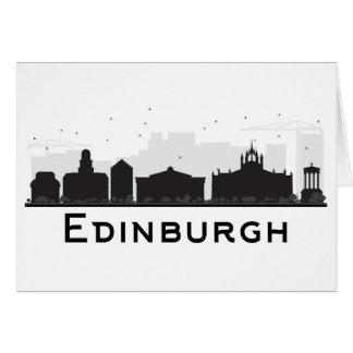 Cartão Skyline preto e branco de Edimburgo Scotland |