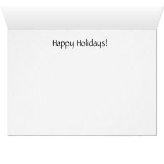 Cartão Sledding do feriado do esquilo