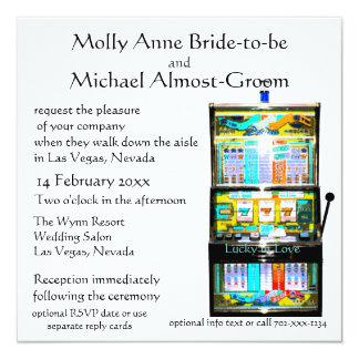 Cartão Slot machine afortunado no amor