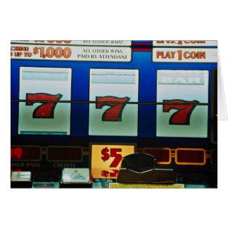 Cartão Slot machine em um casino