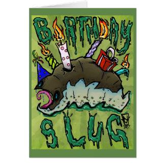 Cartão Slug do aniversário!