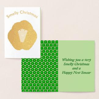 Cartão Smelly da folha da couve de Bruxelas do
