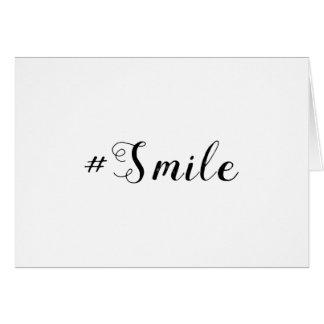 cartão #Smile do sorriso de   Hashtag