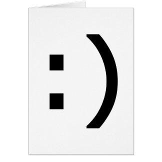Cartão Smiley do computador