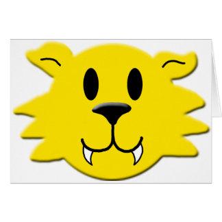 Cartão Smiley do homem-lobo