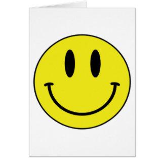 Cartão smiley face