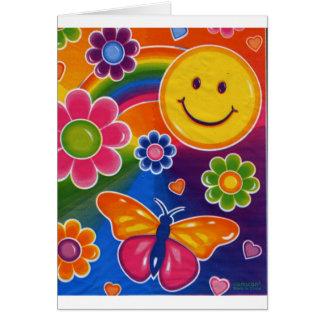 Cartão Smiley face da borboleta