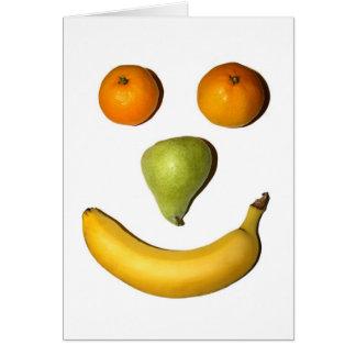 Cartão Smiley face da fruta