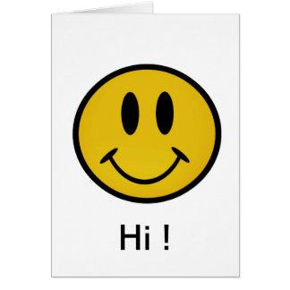 Cartão Smiley face dourado