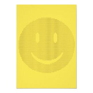 Cartão Smiley face feito dos smileys face