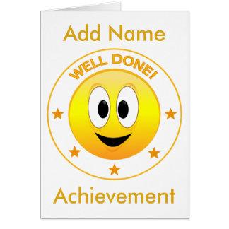 Cartão Smiley face feliz bem cozido personalizado