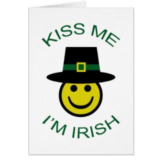 Cartão Smiley irlandês