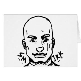 Cartão Smirk da rua do agente