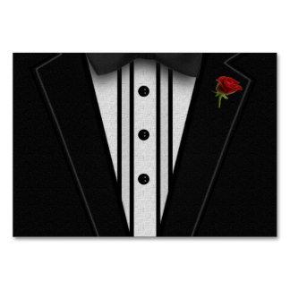 Cartão Smoking preto com laço