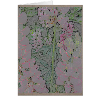 Cartão Snapdragons cor-de-rosa