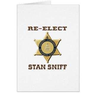 Cartão Sniff do xerife