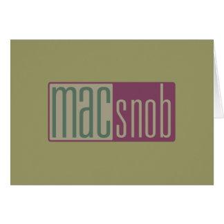 Cartão snobe do Mac