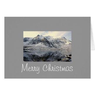 Cartão Snowdonia congelado