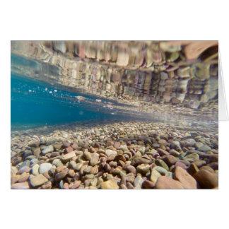 Cartão Sob a água no lago McDonald