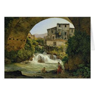 Cartão Sob o arco de uma ponte em Italia, 1822