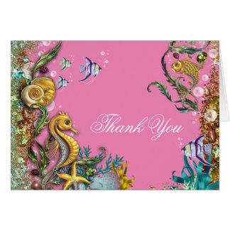 Cartão Sob o obrigado do mar você