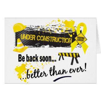 Cartão Sob o Sarcoma da construção