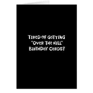 """Cartão """"Sobre aniversário do monte"""""""