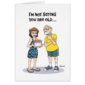 """Cartão """"Sobre aniversário engraçado do monte"""" 62nd"""