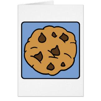 Cartão Sobremesa do biscoito dos pedaços de chocolate do