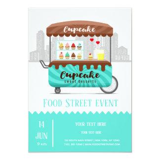 Cartão Sobremesas do doce do cupcake da rua da comida