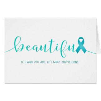 Cartão Sobrevivente do câncer de ovário você é bonito