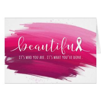 Cartão Sobrevivente do cancro da mama você é bonito