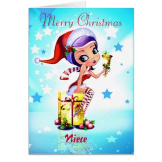 Cartão Sobrinha do Feliz Natal