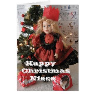 Cartão Sobrinha do Natal feliz