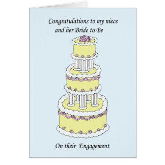 Cartão Sobrinha e noiva a ser felicitações do noivado