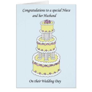 Cartão Sobrinha e suas felicitações do casamento do