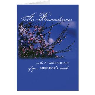 Cartão Sobrinho, aniversário da relembrança ø
