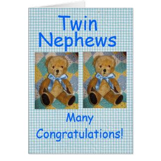 Cartão Sobrinho gêmeos