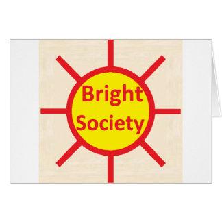 Cartão Sociedade brilhante