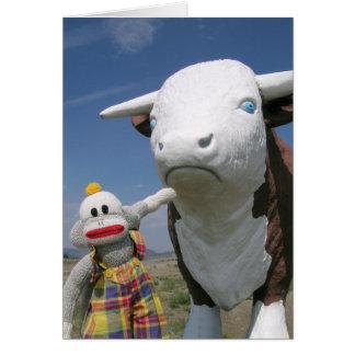 Cartão SockMonkey e amigo