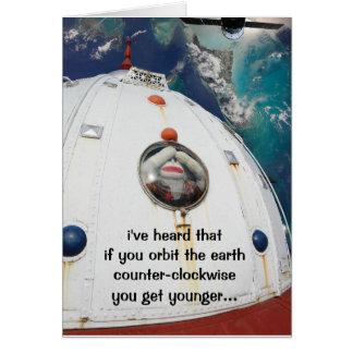 Cartão SockMonkey no espaço