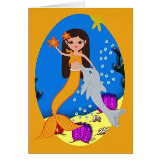 Cartão Sófia a sereia e o golfinho carda