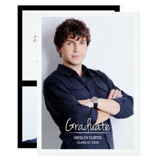 Cartão Sofisticação simples, anúncios da graduação