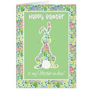 Cartão Sogra bonito da páscoa do coelho de coelho das