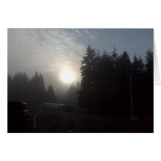 Cartão sol enevoado #3 da manhã
