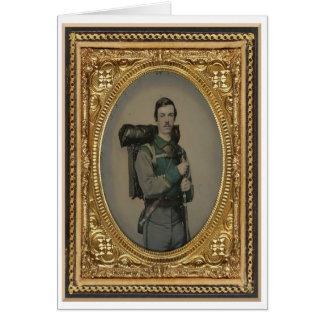 Cartão Soldado confederado desconhecido, retrato do