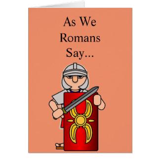Cartão Soldado romano: Obtenha bem logo
