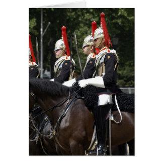 Cartão Soldados da cavalaria do agregado familiar no