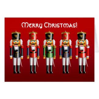 Cartão Soldados de brinquedo do Nutcracker do Xmas nos