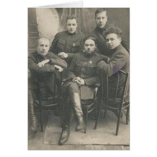 Cartão Soldados do russo do vintage